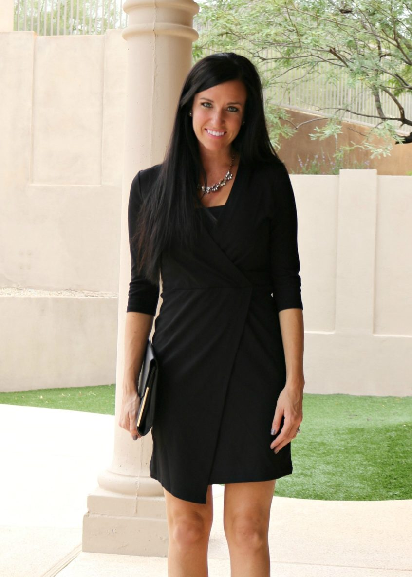 Holiday Party | Holiday Dress | Faux Wrap Dress | Teacherfashionista | Jules