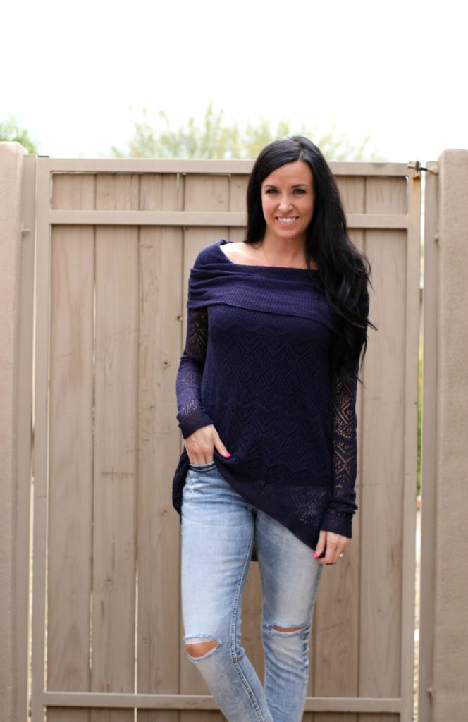 Navy Tunic Sweater | Grace & Lace | Teacherfashionista | Jules