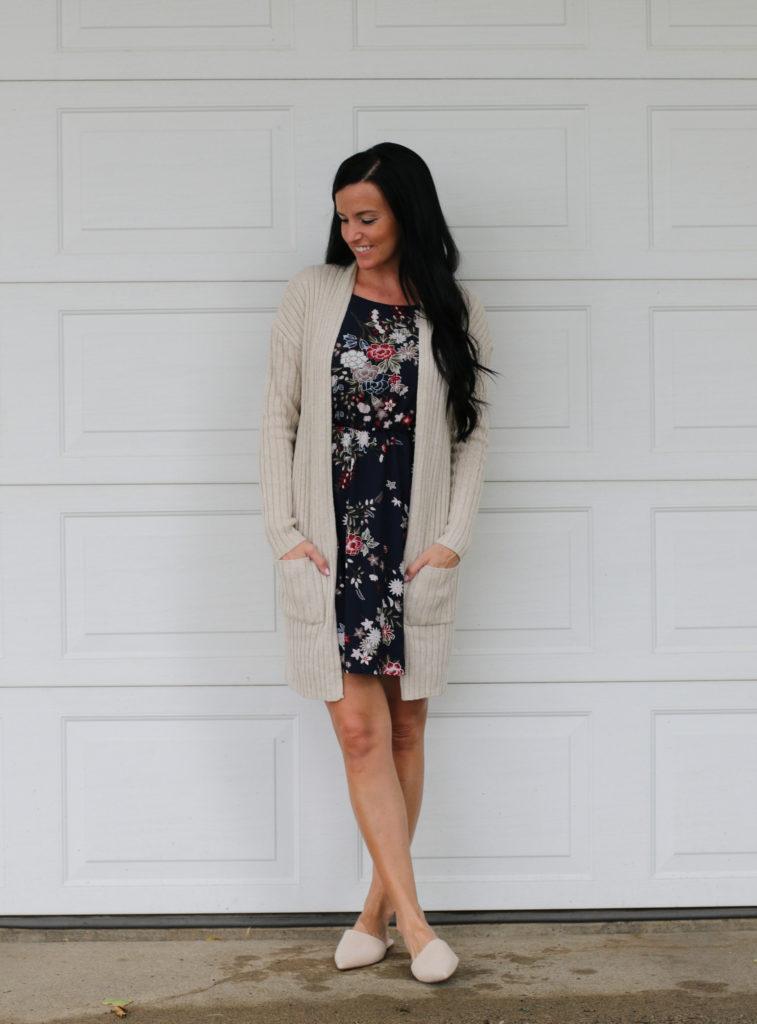 Summer to Fall Dress   Floral Dress   Nordstrom   Teacherfashionista   Jules