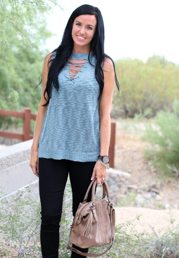 Choker Top | Grace and Lace | Knit Top | Teacherfashionista | Jules