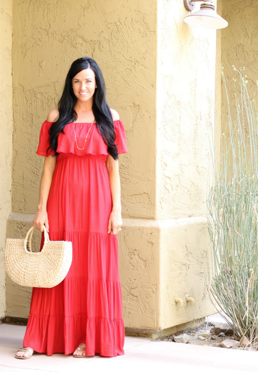 Red Maxi | Teacherfashionista | Jules