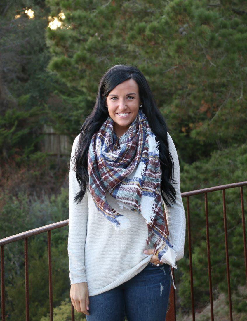 How to Wear a Blanket Scarf 7 Ways | Blanket Scarf | Teacherfashionista | Jules