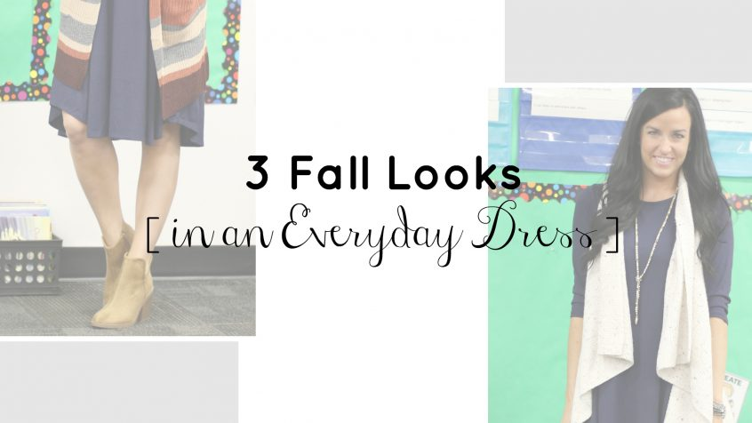 3 Fall Looks in an Everyday Dress | Teacherfashionista | Jules