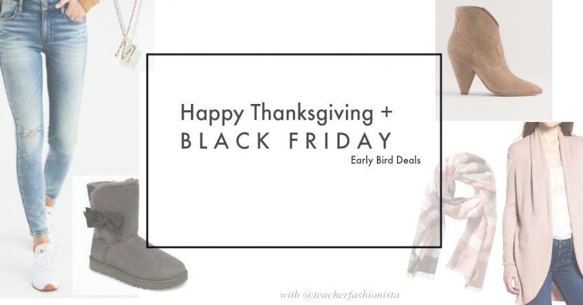 Happy Thanksgiving | Black Friday Sales | Teacherfashionista | Jules