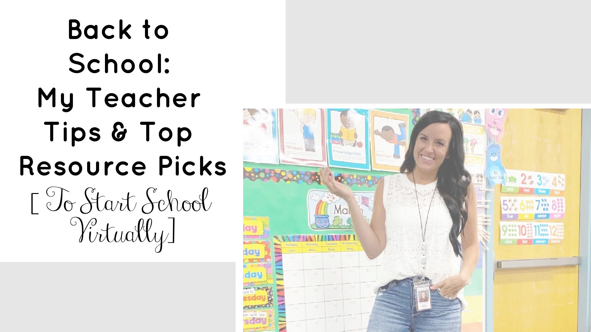 Back to School | Virtual Teaching | Week 1 Ideas | Teacherfashionista | Jules