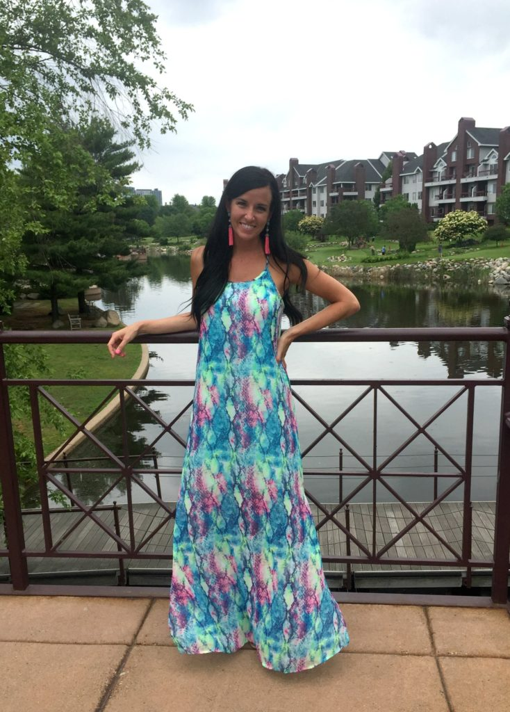 Vibrant Summer Maxi | Bennie C's Boutique | Teacherfashionista | Jules