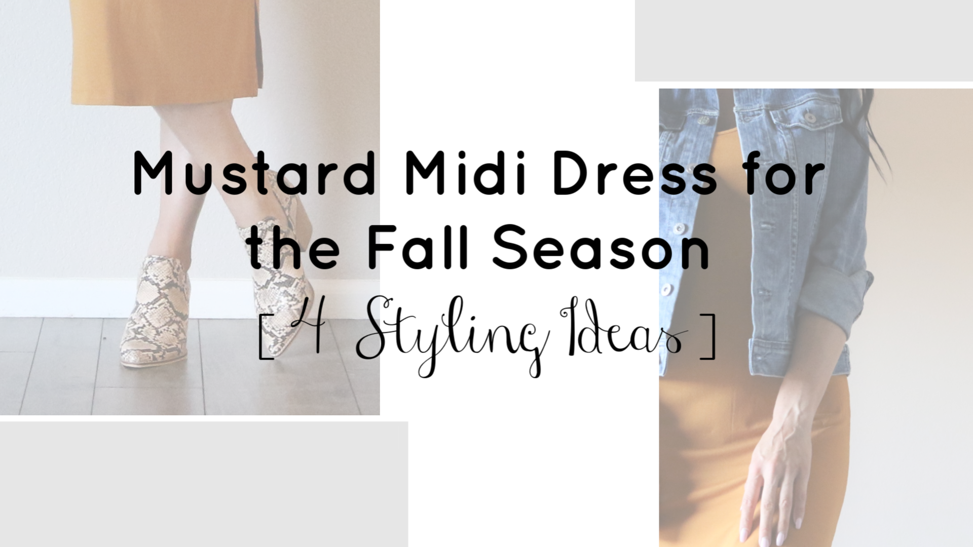 Mustard Midi Dress for the Fall Season | Teacherfashionista | Jules
