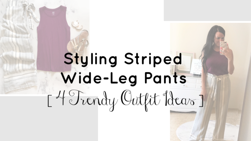 Styling Striped Wide-leg Pants | Teacher Style | Teacherfashionista | Jules