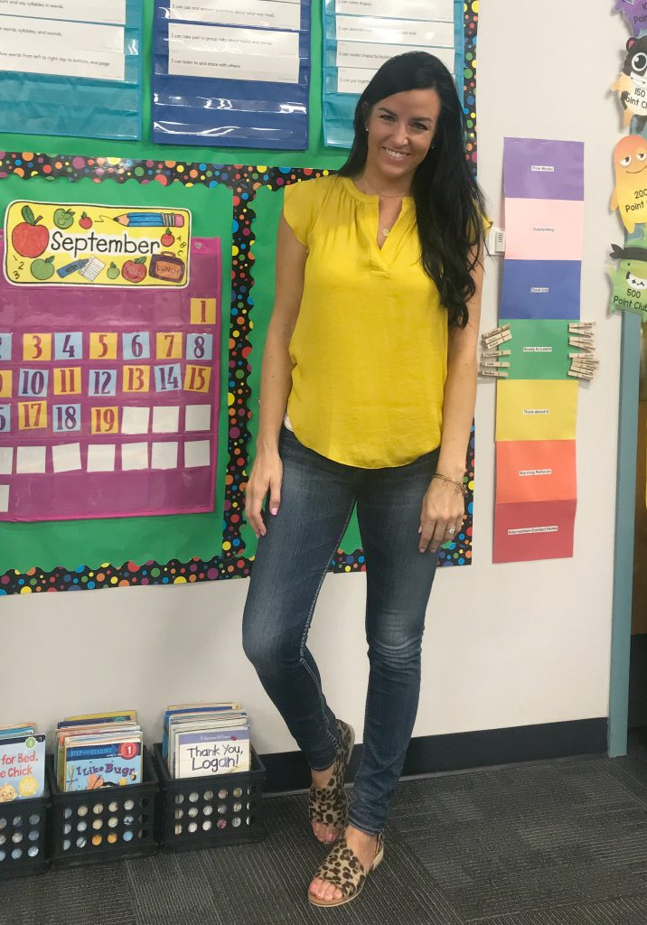 Yellow Top Styled 4 Ways | Teacherfashionista | Jules