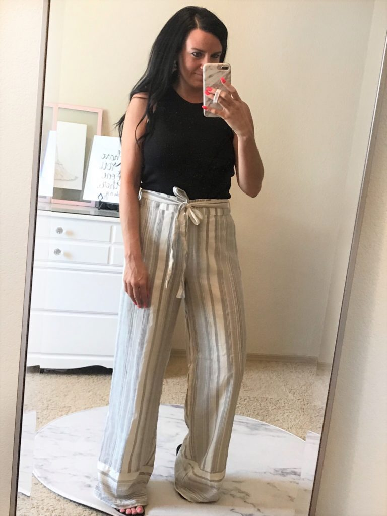 Styling Striped Wide-leg Pants | Teacher Style | Teacherfashionista | Jules